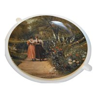 Royal Bayreuth Antique American Art Collector Plate Down Memory Lane Whittredge