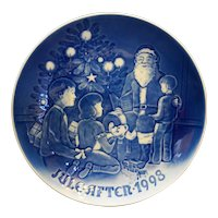 Bing Grondahl Santa the Storyteller 1998 Christmas Plate NIB