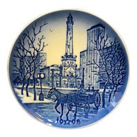 Bing Grondahl Chicago Water Tower Christmas 1998 American Christmas Plate