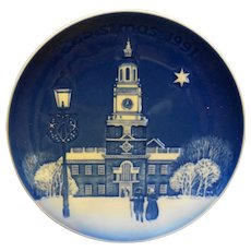 Bing Grondahl Christmas in America Independence Hall Christmas Plate 1991