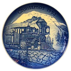 Bing Grondahl Christmas in America Train Steam Engine Christmas Plate 1993