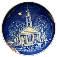 Bing Grondahl Christmas in America New England Church Christmas Plate 1989