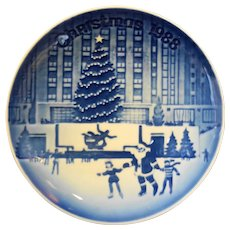 Bing Grondahl 1998 Rockefeller Center Christmas New York Plate