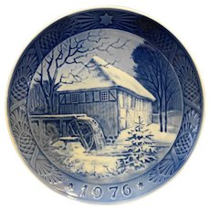 Royal Copenhagen 1976 Christmas Plate Vibaek Water Mill