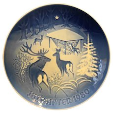 Bing Grondahl Christmas in the Woods Plate Jule After 1980