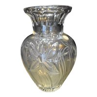 Lead Crystal Cut Floral Vase Made in Poland