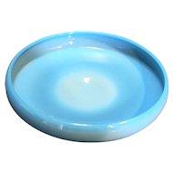 Cambridge Azurite Opaque Blue Milk Glass Cupped Bowl