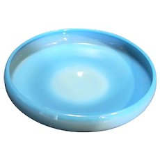 Cambridge Azurite Opaque Blue Milk Glass Cupped Bowl