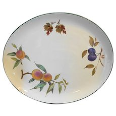 "Evesham Vale Royal Worcester 15"" Platter Oval Peaches Plums"