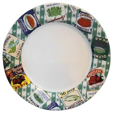 Fitz and Floyd Country Cupboard Chop Plate Round Platter 12 IN