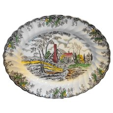 Myott Staffordshire The Brook Multicolor Oval Platter