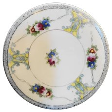 Noritake Hand Painted Floral Tea Trivet Tile Round