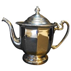 Continental Silver Co Chrome Teapot Paneled 3626