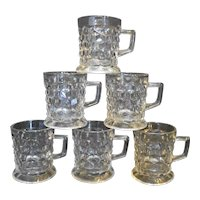 Fostoria American Tom Jerry Mugs Set of 6