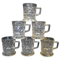 Fostoria American Tom Jerry Mugs Set of 6