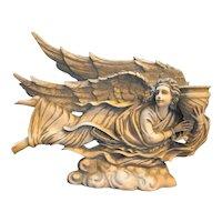 Goebel Angel Candle Holder Figurine Grey Resin Made in Taiwan