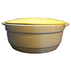 Hall General Electric Yellow Grey Casserole Dish