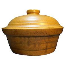 Monmouth Western Stoneware Mojave Brown Glaze Casserole With Lid