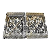 Imperial Glass Cape Cod Individual Ashtrays Pair