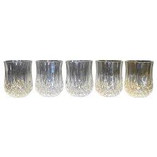 Longchamps Cristal d'Arques Shot Glasses Set of 5 Lead Crystal