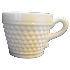 Westmoreland American Hobnail Cup Milk Glass