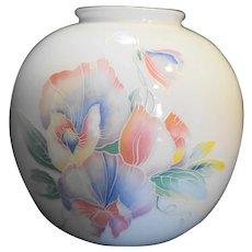 Aynsley Little Sweetheart Irises Vase Fine Bone China England