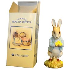 Royal Doulton Beswick Peter With Daffodils Beatrix Potter 1996 BP6a