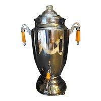 Forman Bros Chromium Plated Samovar Coffee Urn Art Deco