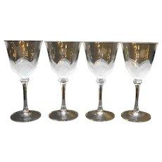 Cristal d'Arques JG Durand Florence Water Goblets Set of 4