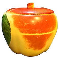 Hull Blushing Apple Small Cookie Jar Canister
