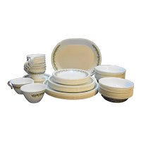 Corelle Spring Blossom Dinnerware Service for 8 Plates Bowls Cups Saucers Platter Cream Sugar 59 Pieces