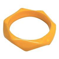 Yellow Orange Lucite Angled Chunky Bangle Bracelet