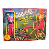 Barbie Dress 'N Go Mountain Bike Set 7564 New Old Stock