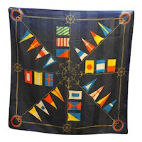 Berkshire Silken Yachting Sailing Flags Scarf Polyester