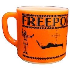 Freeport Bahamas Souvenir Federal Milk Glass Mug