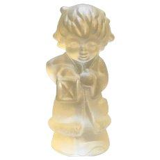 Goebel Lead Crystal Frosted Child Lantern Figurine