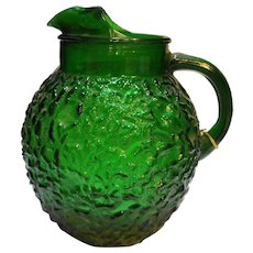 Milano Lido 96 Oz Forest Green Ball Pitcher Anchor Hocking