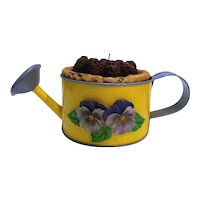 Joelson Industries Vanilla Candle Watering Can Pansies Hong Kong 1991