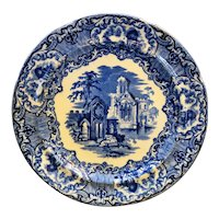 Abbey Flow Blue Plate 9 1/4 IN England George Jones