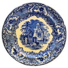Abbey Flow Blue Plate 9 1/4 IN England George Jones