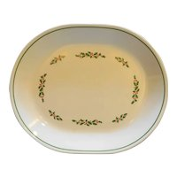 Corelle Holly Days Christmas Oval Platter