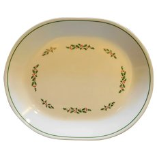 Corolle Holly Days Christmas Oval Platter