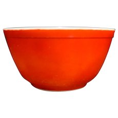Red Pyrex 402 Primary Colors 7 IN Mixing Bowl 1 1/2 QT