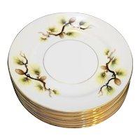 Mikasa Narumi Shasta Pine Bread Plates Set of 8