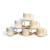 Noritake Morning Melody Keltcraft Ireland Cups Saucers Set of 5