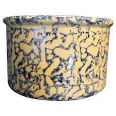 Robinson Ransbottom Blue Spongeware Sponge Crock Low Jar 1 QT RRPCO