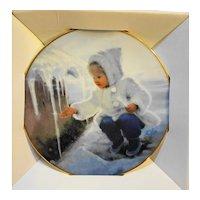 Donald Zolan Mini Plate Winter Wonder New in Box 1996