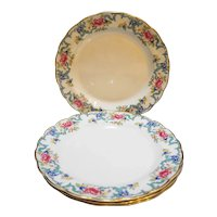 Booth Floradora The Majestic Collection Multicolor Scalloped Dinner Plates Set of 4