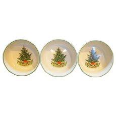 Pfaltzgraff Christmas Heritage Soup Cereal Bowls Set of 3