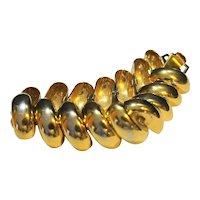 Napier Gold Tone Curved Link Bracelet
